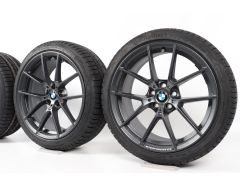 BMW Velgen met Winterbanden 3 Serie G20 G21 4 Serie G22 19 Inch Styling 898 M Y-Speiche
