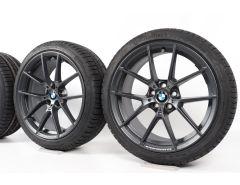 BMW Velgen met Winterbanden 3 Serie G20 G21 4 Serie G22 G23 19 Inch Styling 898 M Y-Speiche