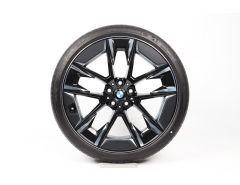 BMW Velgen met Zomerbanden 5 Serie G30 G31 20 Inch Styling 1001i V-Speiche