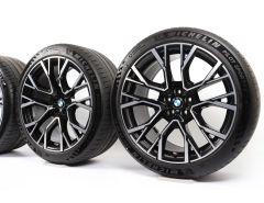 BMW Velgen met Zomerbanden X5M F95 X6M F96 21 Inch 22 Inch Styling 809 M Sternspeiche
