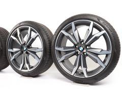 BMW Sommerkompletträder X1 F48 X2 F39 20 Zoll Styling 717 M Doppelspeiche