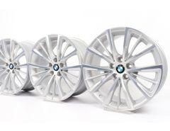 4x BMW Alufelgen 7er G11 G12 18 Zoll Styling 643 W-Speiche