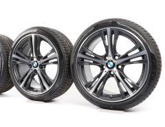 BMW Velgen met Zomerbanden 3 Serie F30 F31 4 Serie F32 F33 F36 19 Inch Styling 407 Sternspeiche