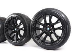 BMW Velgen met Winterbanden X5M F95 X6M F96 21 Inch 22 Inch Styling 809 M Sternspeiche