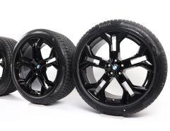 BMW Velgen met Winterbanden X5 G05 X6 G06 21 Inch Styling 744 Y-Speiche