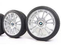 BMW Velgen met Zomerbanden 3 Serie F30 F31 4 Serie F32 F33 F36 19 Inch Styling 439 V-spaak