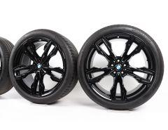 BMW Sommerkompletträder X3 G01 X4 G02 21 Zoll Styling 718 M Doppelspeiche