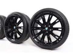 BMW Velgen met Zomerbanden 5 Serie G30 G31 20 Inch Styling 759i V-Speiche