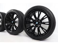 BMW Sommerkompletträder X3 G01 X4 G02 21 Zoll Styling 726 V-Speiche