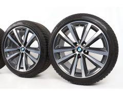 BMW Winterkompletträder 8er G14 G15 G16 19 Zoll Styling 690 Doppelspeiche