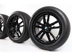 BMW Velgen met Winterbanden X3 G01 X4 G02 19 Inch Styling 698 M Doppelspeiche