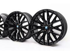 4x BMW Velgen 5 Serie G30 G31 20 Inch Styling 636 Kruis-spaak