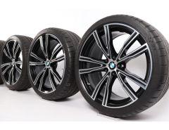 BMW Sommerkompletträder 8er G14 G15 G16 20 Zoll Styling 730 V-Speiche
