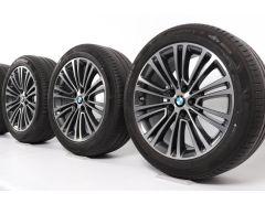 BMW Sommerkompletträder 5er G30 G31 18 Zoll Styling 634 Doppelspeiche