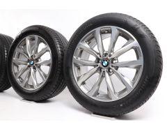 BMW Velgen met Zomerbanden X3 G01 X4 G02 19 Inch Styling 692 V-Speiche