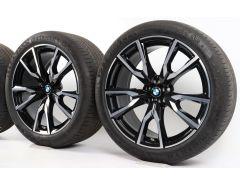 BMW Sommerkompletträder X7 G07 22 Zoll Styling 755 M V-Speiche