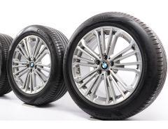 BMW Velgen met Zomerbanden X3 G01 X4 G02 19 Inch Styling 696 Doppelspeiche