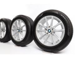 BMW Velgen met Zomerbanden X3 G01 X4 G02 18 Inch Styling 618 V-Speiche
