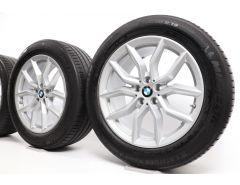 BMW Sommerkompletträder X5 G05 X6 G06 19 Zoll Styling 734 V-Speiche