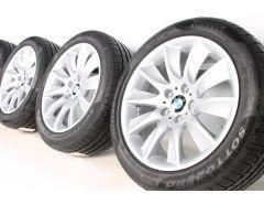 BMW Velgen met Winterbanden 5 Serie F10 F11 6 Serie F06 F12 F13 18 Inch Styling 329 Turbinenstyling