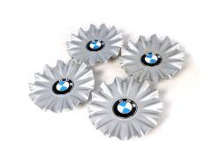 1 Satz Original BMW Nabendeckel Silber für Alufelge Styling 620