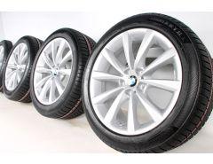 BMW Winterkompletträder 8er G14 G15 G16 18 Zoll Styling 642 V-Speiche