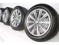 BMW Sommerkompletträder 6er G32 7er G11 G12 18 Zoll Styling 684 V-Speiche