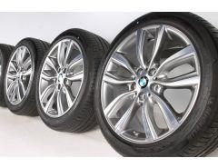 BMW Sommerkompletträder 2er F45 F46 18 Zoll Styling 485 V-Speiche