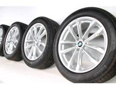 BMW Sommerkompletträder X3 G01 X4 G02 19 Zoll Styling 691 V-Speiche