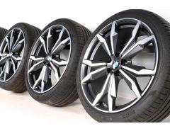 BMW Velgen met Zomerbanden X1 F48 X2 F39 20 Inch Styling 717 M Doppelspeiche