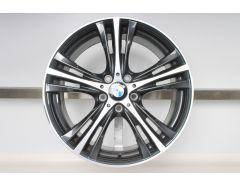 BMW Alufelge 3er F30 F31 4er F32 F33 F36 X3 G01 X4 G02 19 Zoll Styling 407 Sternspeiche