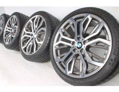 BMW Sommerkompletträder X5 E70 F15 X6 F16 21 Zoll Styling 375 Y-Speiche