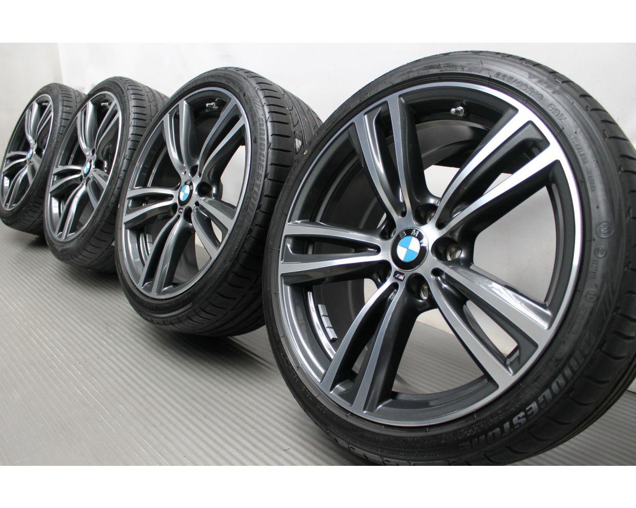 Bmw Summer Wheels 3er F30 F31 4er F32 F33 F36 19 Zoll 442m Double Spoke Ferric Grey Glanzgedreht
