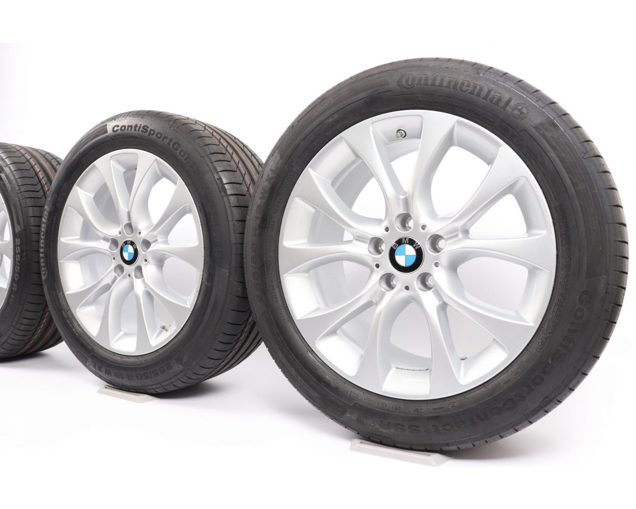 Bmw Summer Wheels X5 F15 E70 19 Zoll 450 V Spoke Rdc Silber