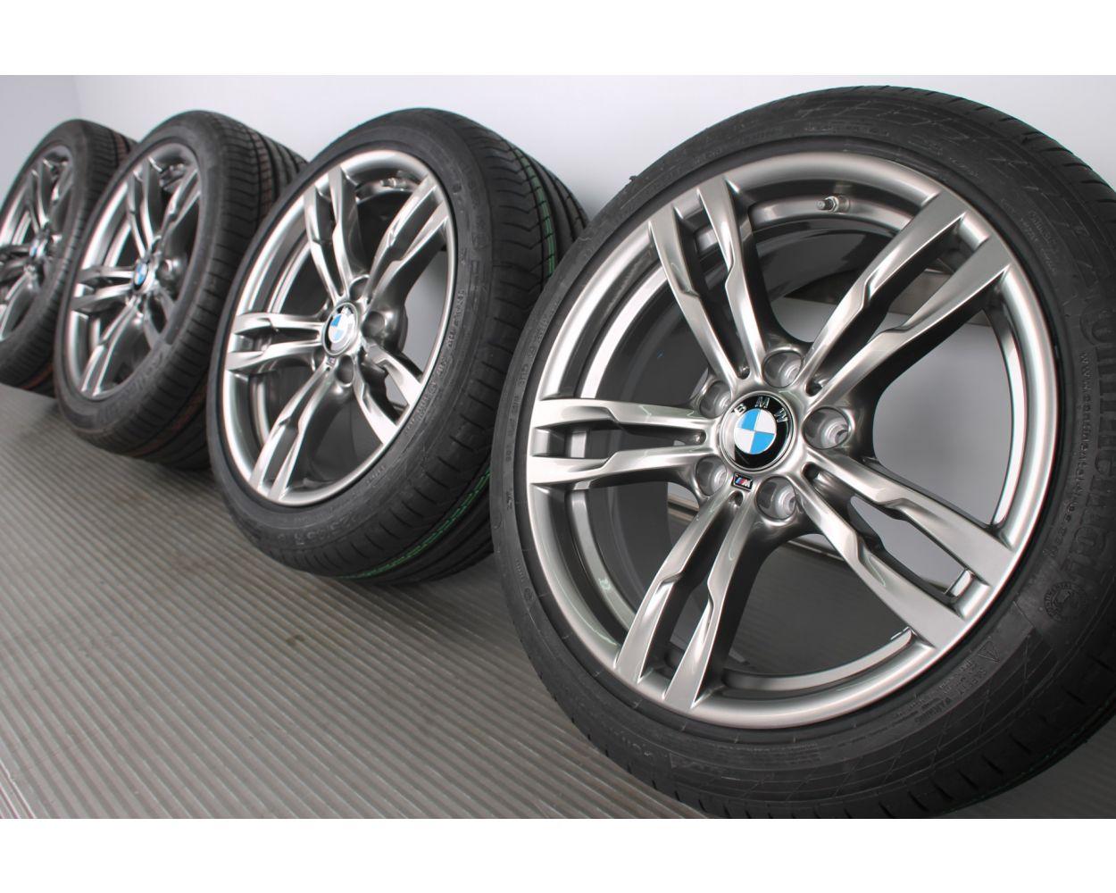 Bmw Summer Wheels 3er F30 F31 4er F32 F33 F36 18 Zoll 441m Double Spoke Ferricgrey