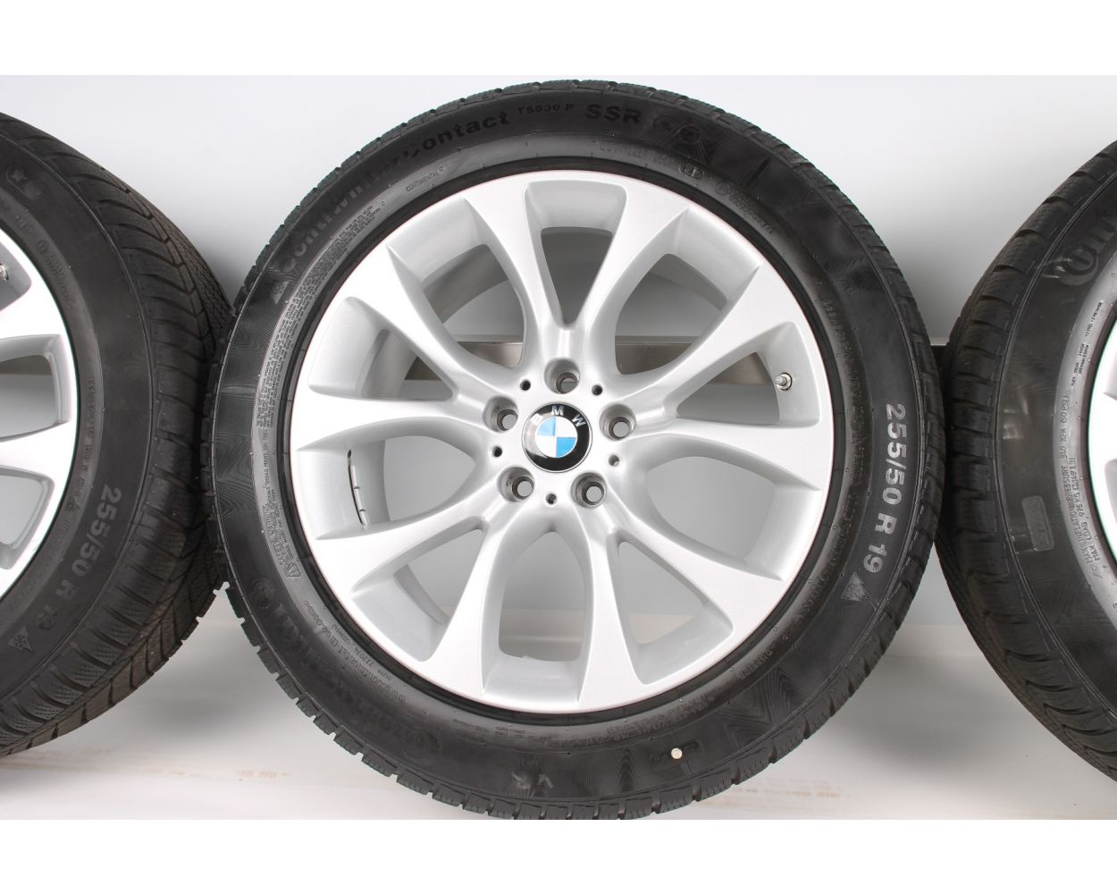 Bmw Winter Wheels X5 F15 E70 19 Zoll 450 V Spoke Rdc Silb