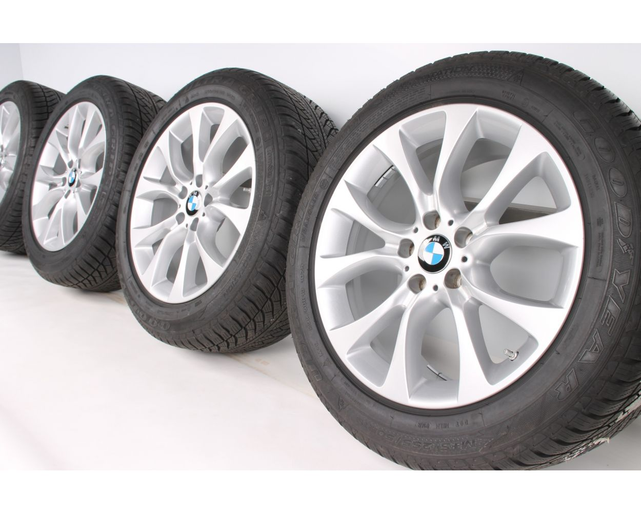 Bmw Winter Wheels X5 F15 E70 19 Zoll 450 V Spoke Rdc Silber