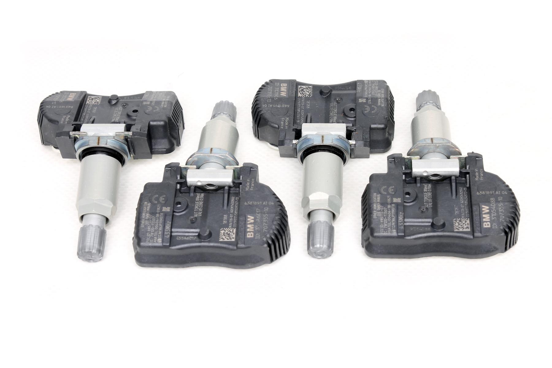 NUOVO 4 x ORIGINAL BMW Rdci RDC Rdk sensori 3er f30 f31 4er f32 f33 f36 6881891
